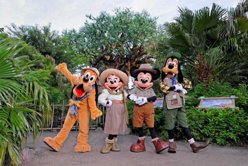 Personagens no Parque Animal Kingdom na Disney