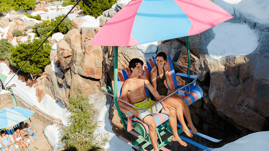 Teleférico no Disney's Blizzard Beach