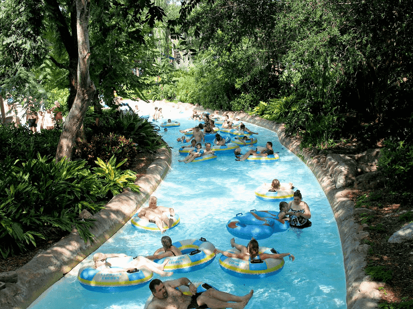 Rio de correnteza do Parque Disney Typhoon Lagoon