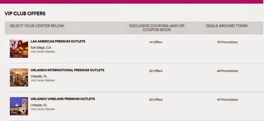 Cupons de desconto Outlet Premium Orlando