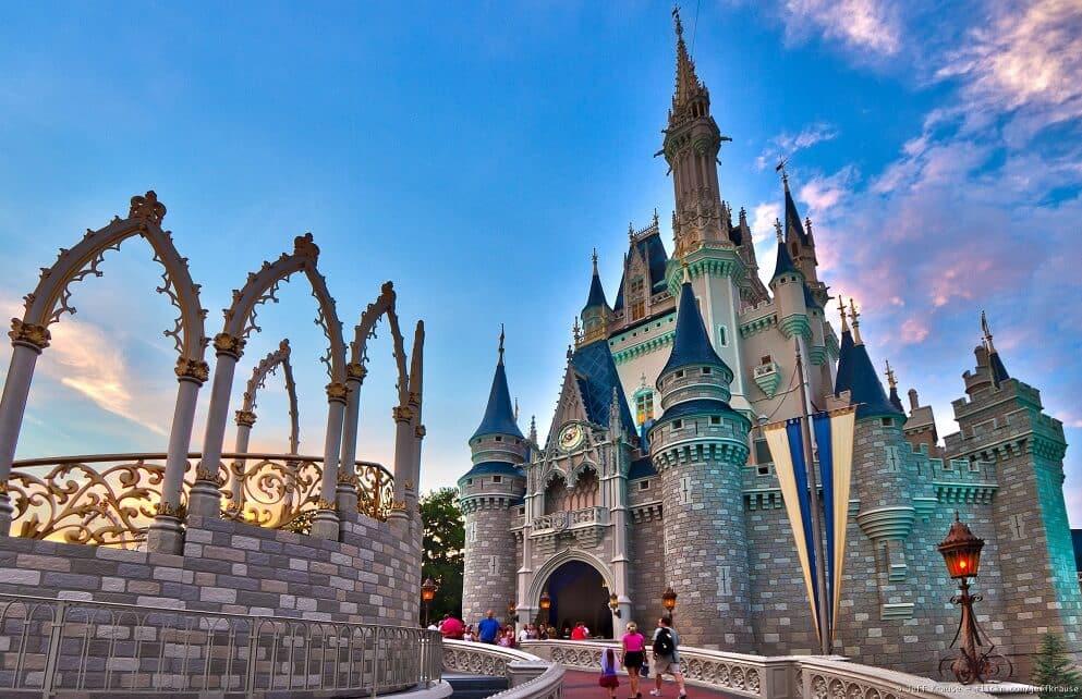 Castelo da Cinderela no Magic Kingdom em Orlando