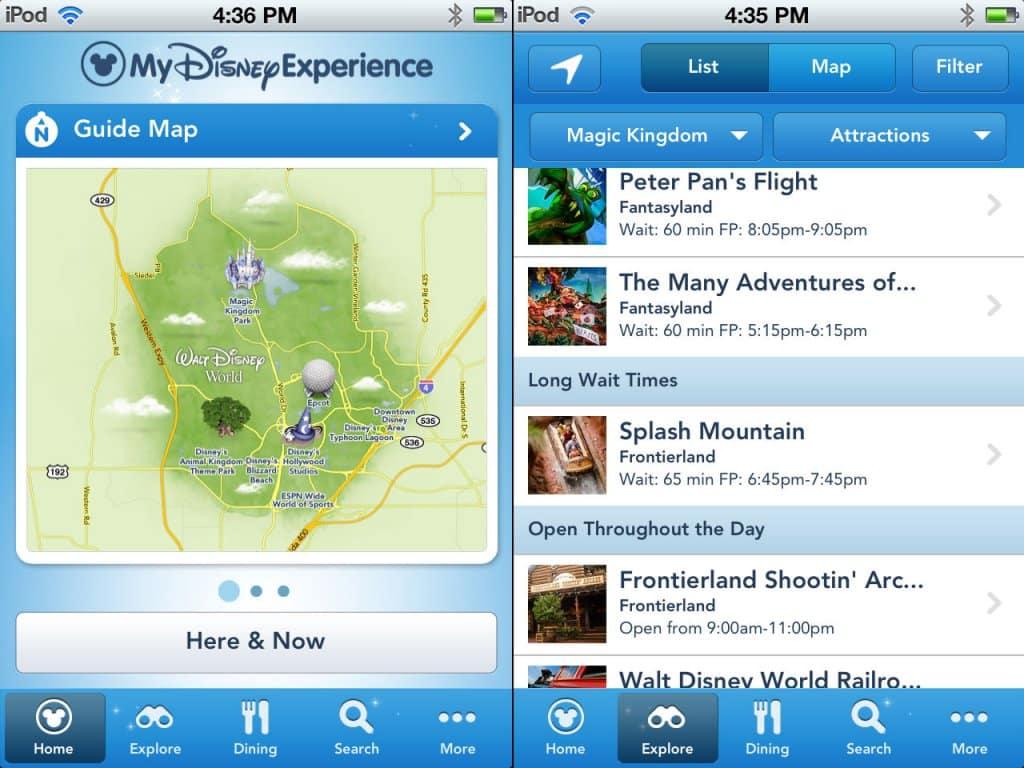 Aplicativo dos parques da Disney Orlando