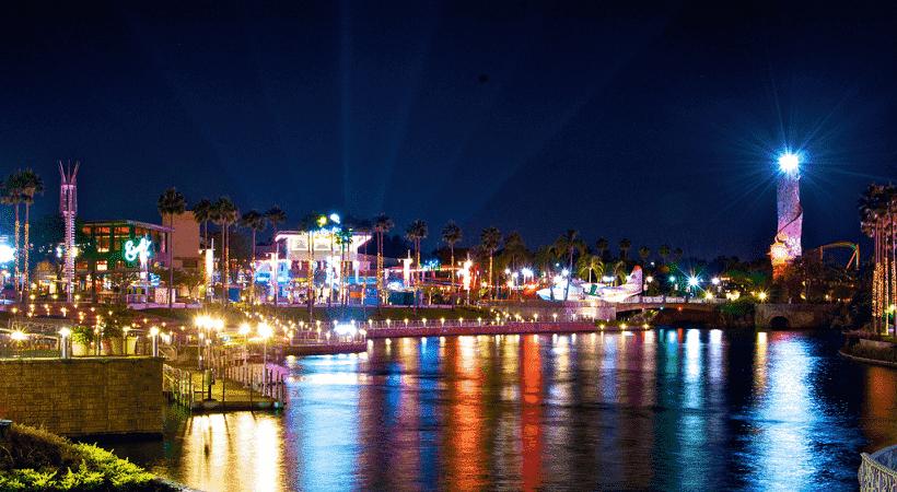 Opções de entretenimento e diversão no Universal CityWalk