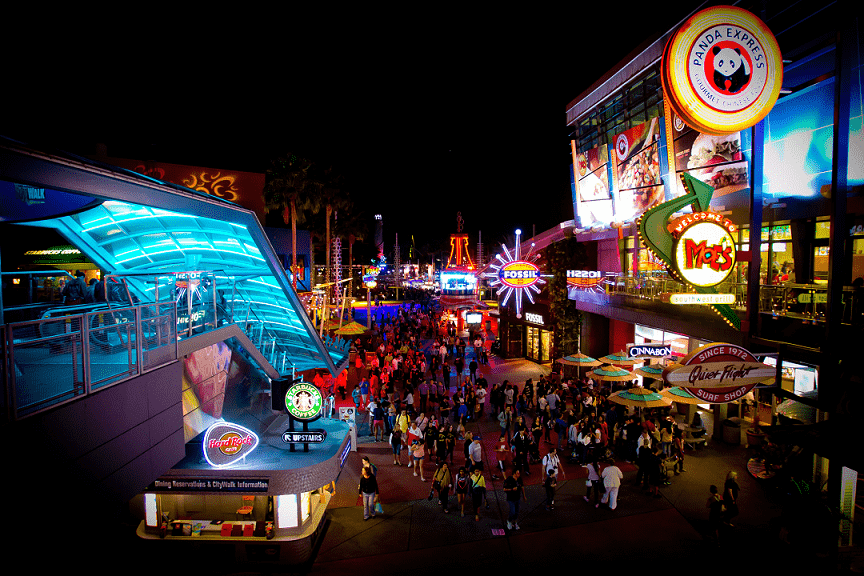 Universal CityWalk en Orlando: Bares, restaurantes y atracciones