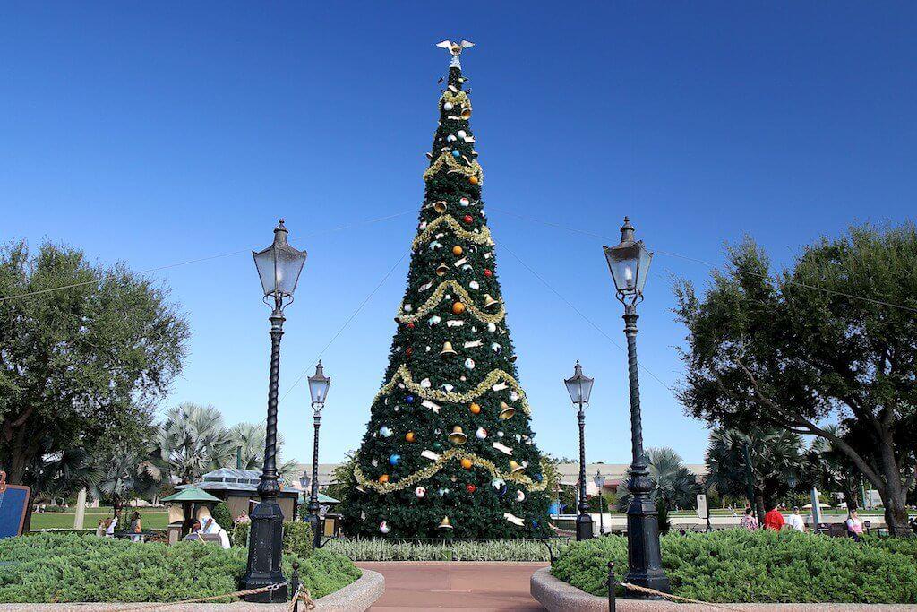 Parque Disney Epcot no Natal
