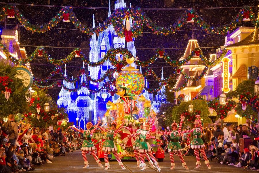Parque Disney Magic Kingdom no Natal