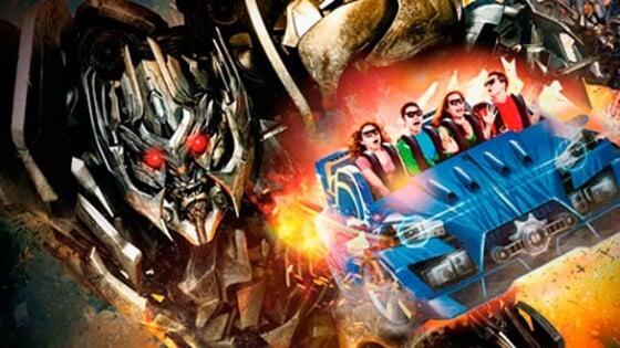 Transformers The Ride 3D na Universal em Orlando