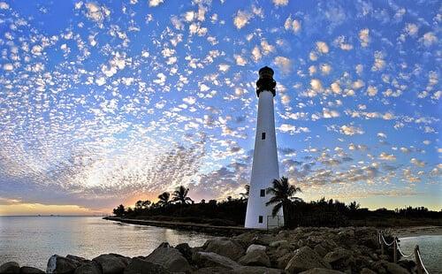 Praias em Key Biscayne na Flórida