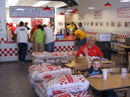 Restaurante Five Guys Orlando Miami