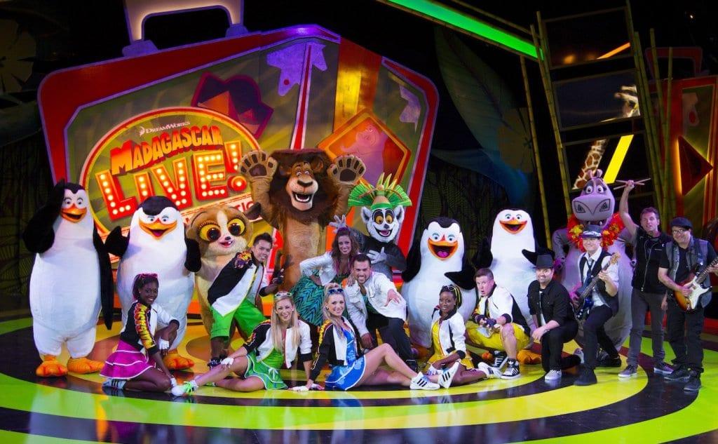 Show do Madagascar no Busch Gardens em Orlando