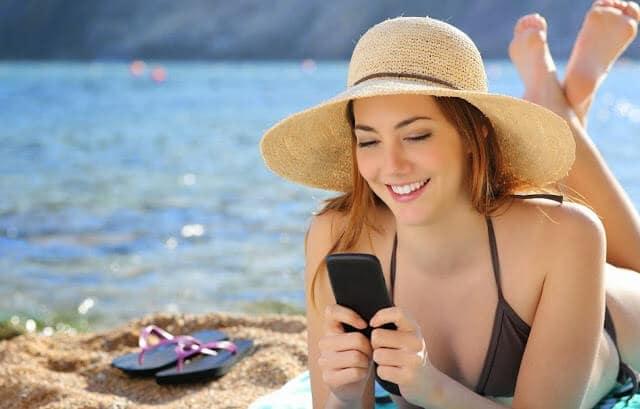 Dica do celular nas praias em Miami