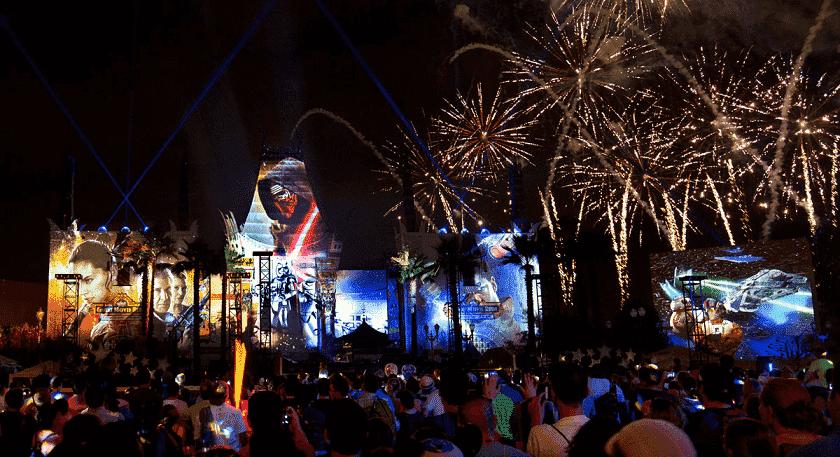 Espectáculos de fuegos artificiales de los otros parques de Disney en Orlando