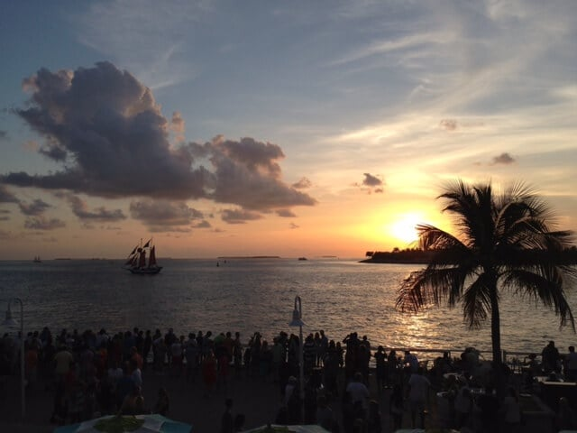 Por do Sol na Mallory Square em Key West