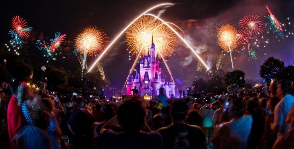 Queima de fogos do Parque Magic Kingdom na Disney