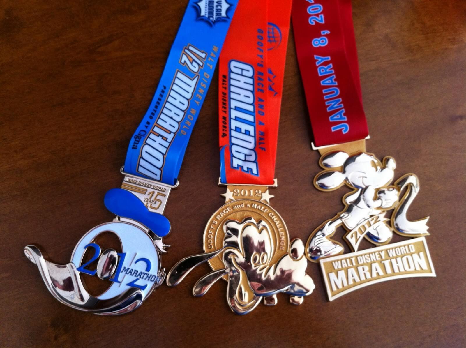 Medalha da Walt Disney World Marathon Weekend na Disney Springs Orlando