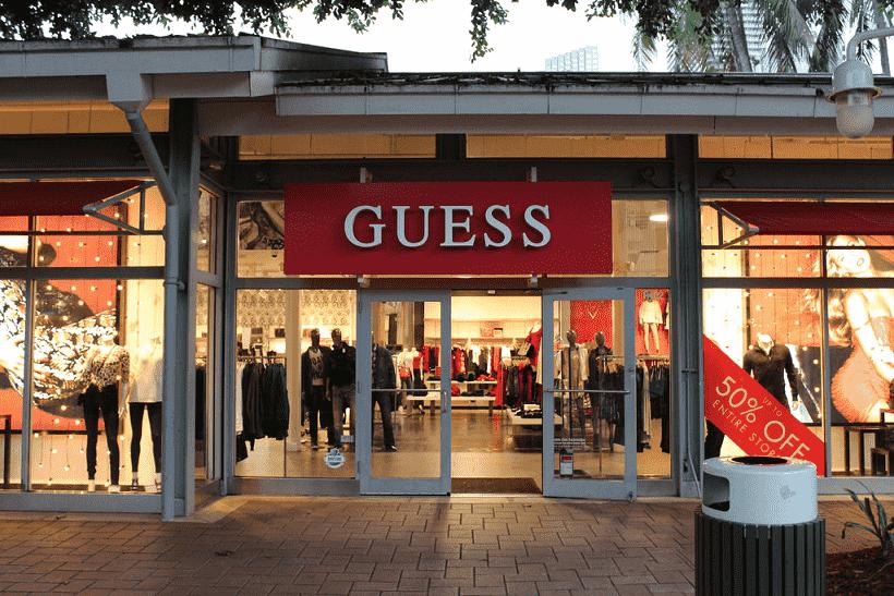 Lojas da Guess em Miami e Orlando: roupas, bolsas e relógios