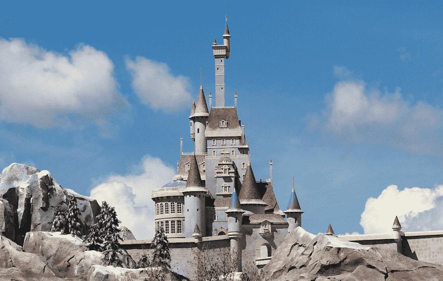Parque e Castelo da Bela e a Fera na Disney Orlando
