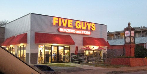 Restaurante e lanchonete Five Guys