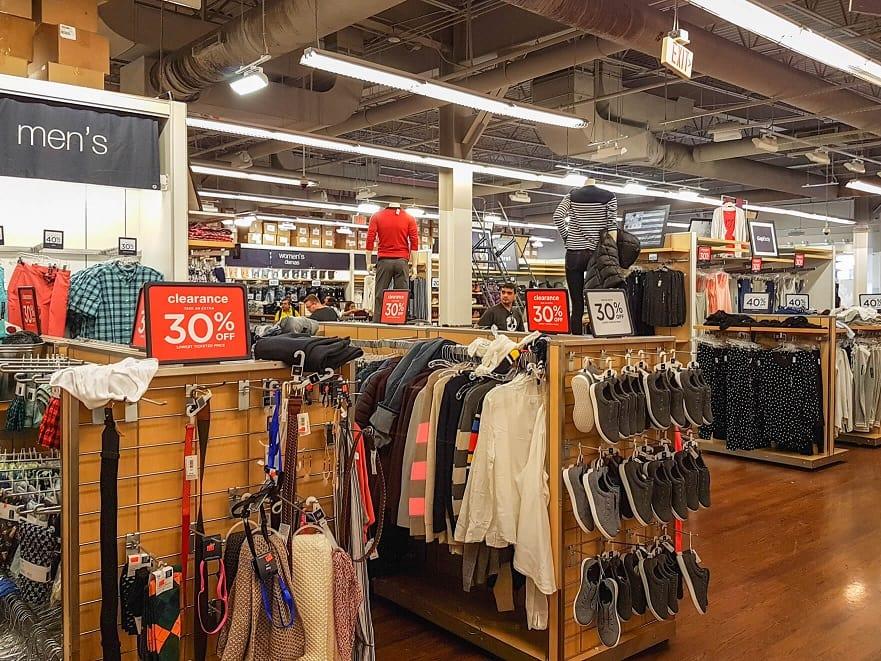 Como são as lojas da GAP em Miami e Orlando