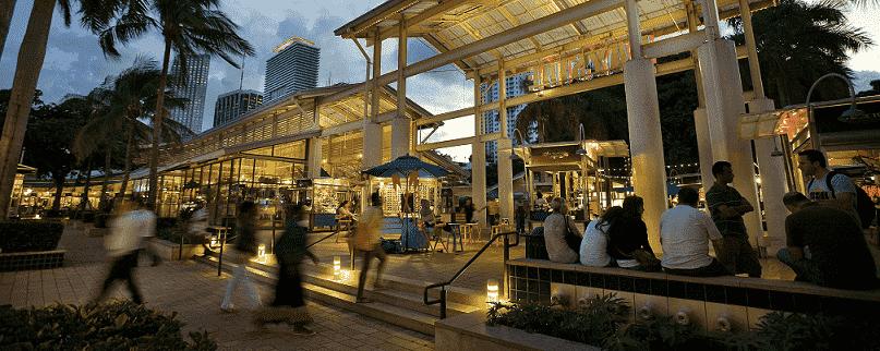 Informações do shopping Bayside Marketplace em Miami