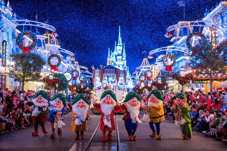 Celebraciones navideñas en Magic Kingdom