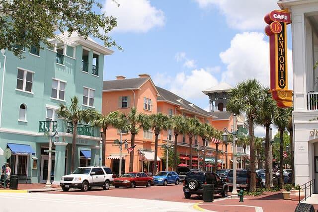 Cidade de Kissimmee na Flórida