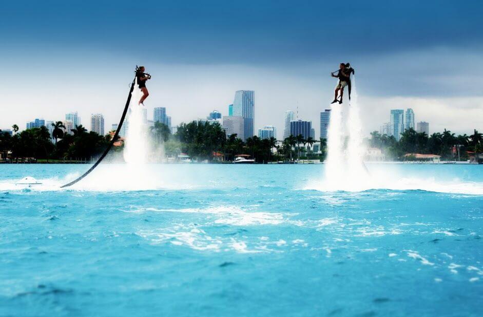 Voando de Jetpack em Miami