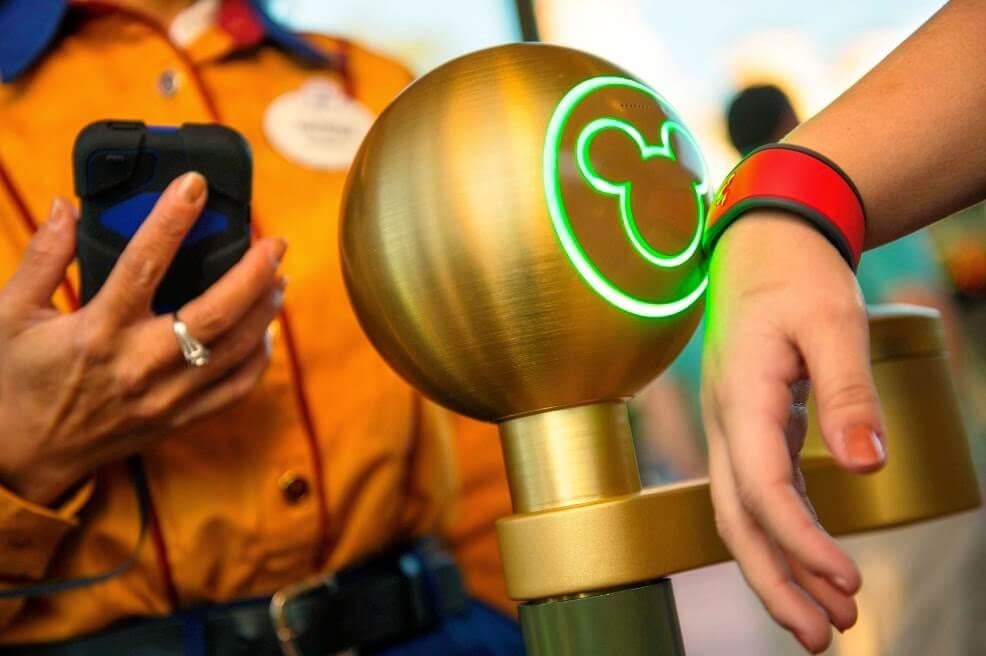 Uso das pulseiras Magic Band da Disney Orlando