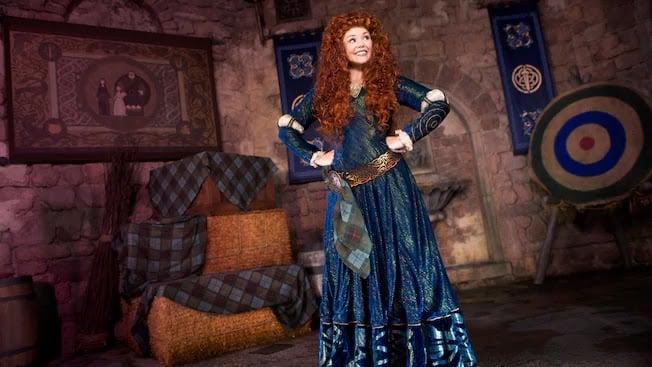 onde encontrar a princesa Mérida nos parques da Disney