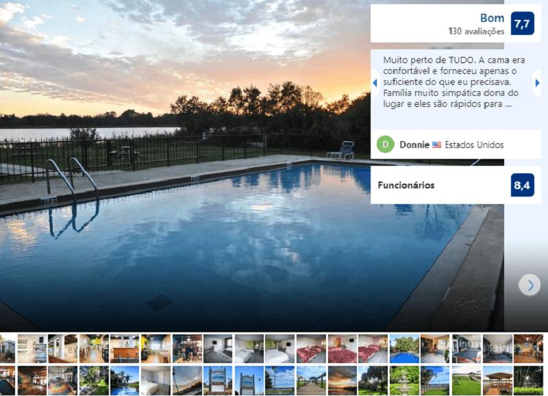 Piscina do Palm Lakefront Resort & Hostel