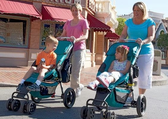 Carrinho de bebe nos Parques de Orlando