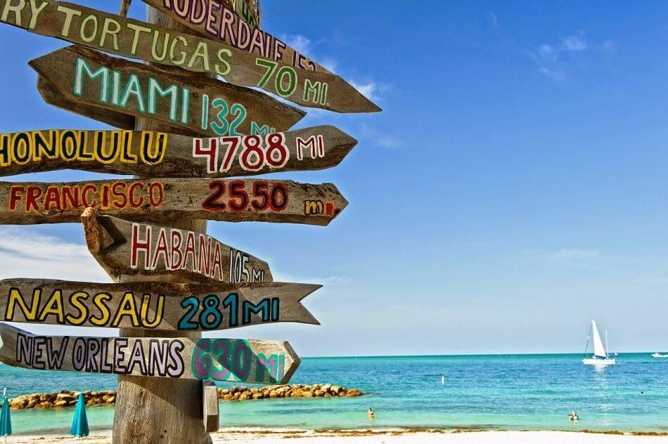 Praias em Key West