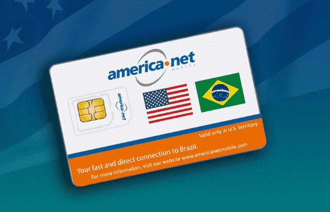Chip da America Net Mobile: Ligações e Internet nos EUA
