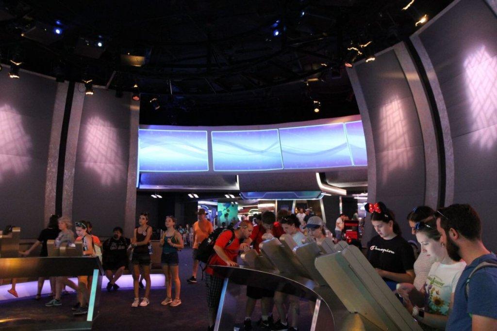 Final do Spaceship Earth no Epcot da Disney Orlando