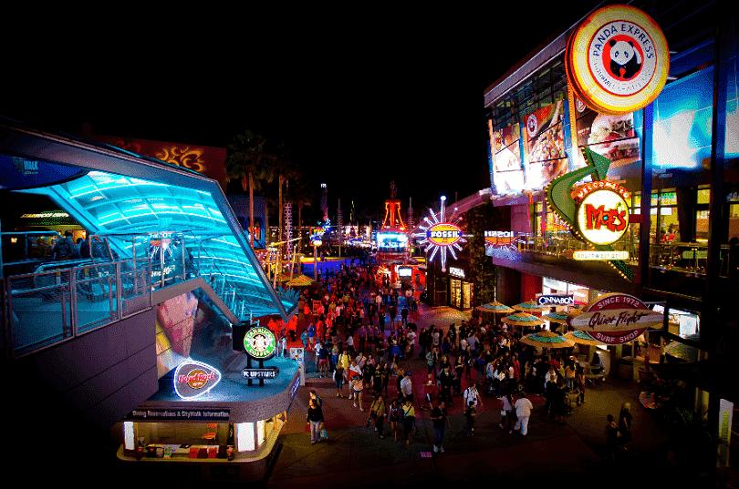 Complexo Universal Citywalk em Orlando
