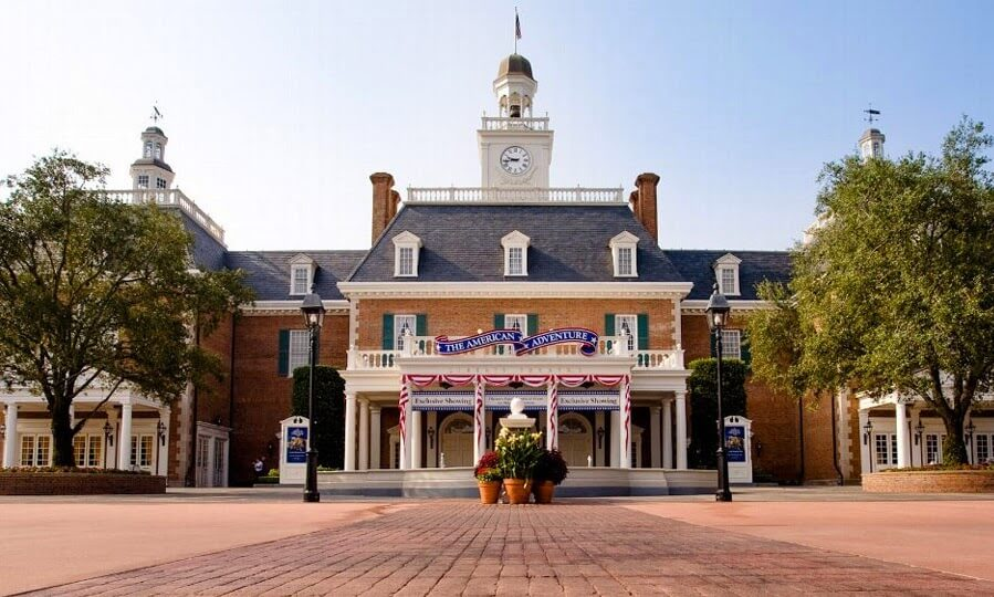 The American Adventure no Parque Disney Epcot em Orlando
