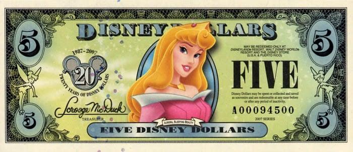 Disney Dollar – o dinheiro da Disney