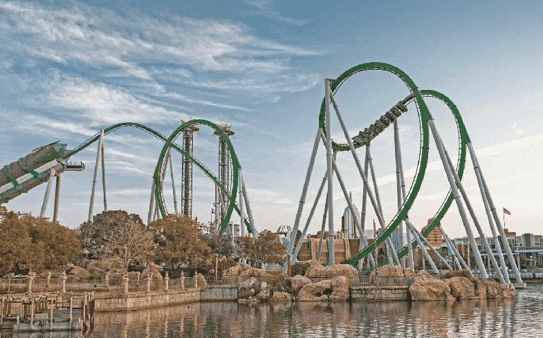 Montanha Russa do Hulk - Islands of Adventure Orlando