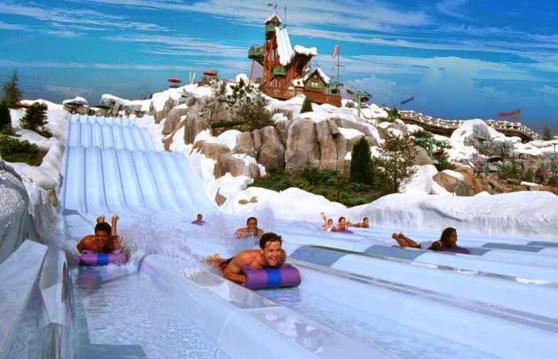 Toboágua no Blizzard Beach da Disney