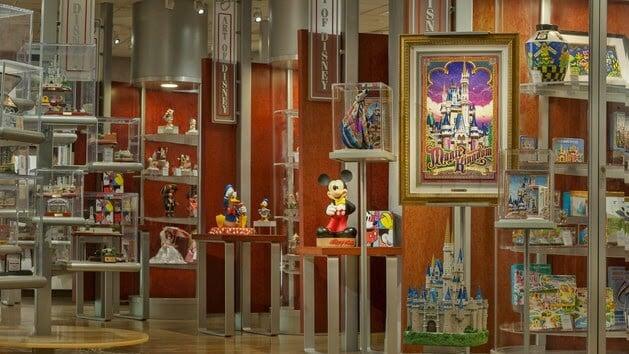 Produtos da loja The Art of Disney no Parque Epcot em Orlando