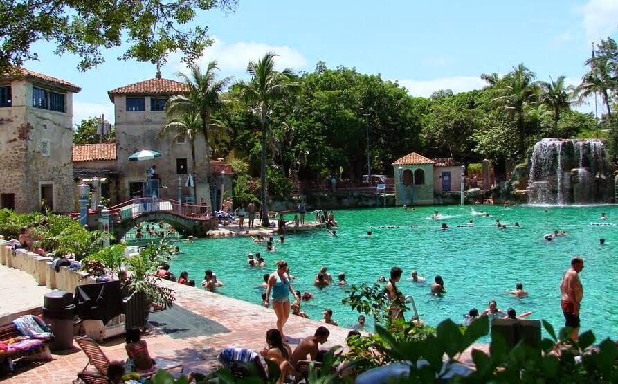 Miami com crianças e filhos Venetian Pool