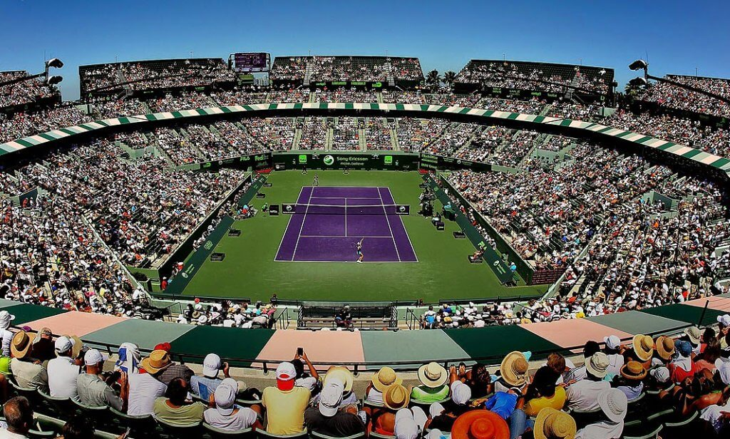 Quadra do Miami Open - Torneio de Tênis