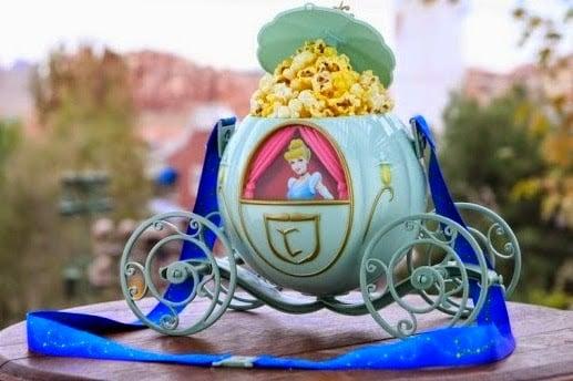 Balde de pipocas da Cinderela na Disney