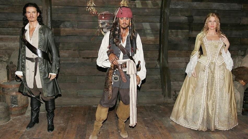 Bonecos de cera do Piratas do Caribe - Museu de Cera Madame Tussauds em Orlando