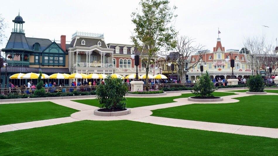 Área central do Magic Kingdom da Disney em Orlando