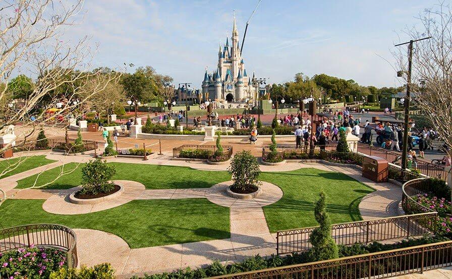 Jardins do Magic Kingdom da Disney em Orlando