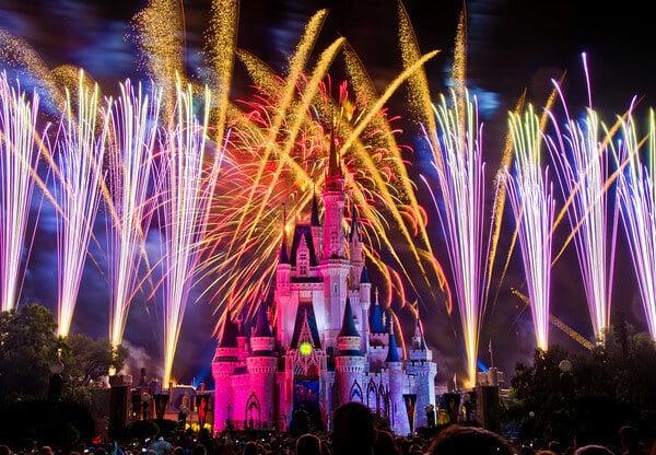 show de fogos na Disney