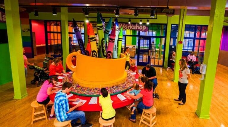 Atração no Crayola Experience em Orlando