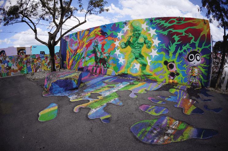 Bairro da arte Wynwood Wall Miami