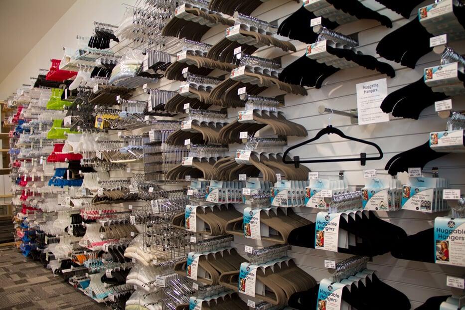 Cabides da Container Store em Orlando